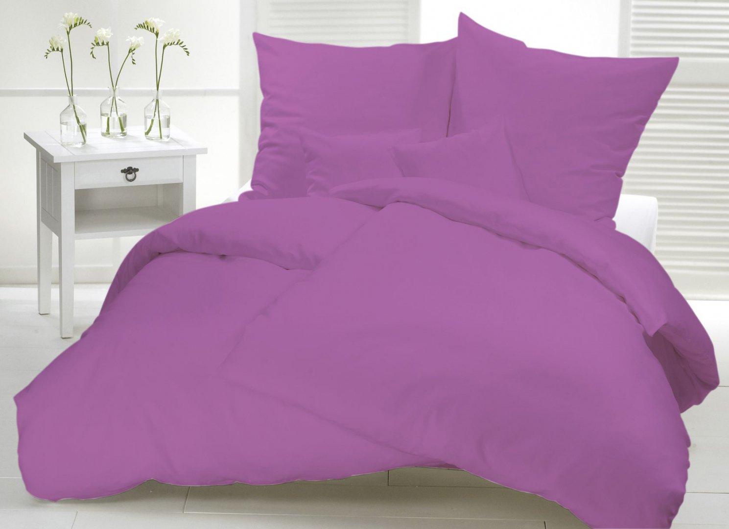 Parure unie prune - Parure de lit destockage ...